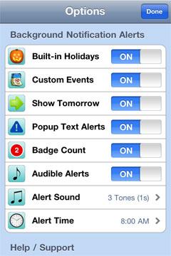 Best Free Calendar Iphone App Holiday Countdown Lite W Recurring